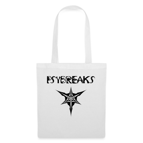 Psybreaks visuel 1 - text - black color - Tote Bag