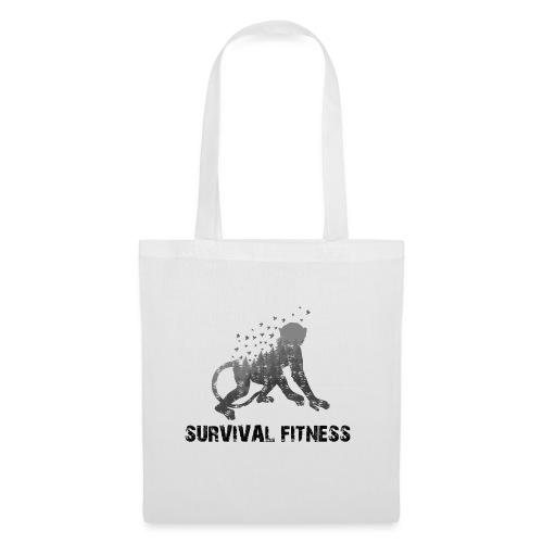 Survival Fitness Logo Schwarz - Stoffbeutel