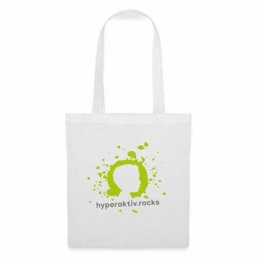 hyperaktiv.rocks Logo - Stoffbeutel