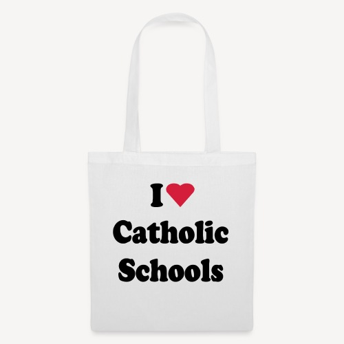 I LOVE CATHOLIC SCHOOLS - Tote Bag