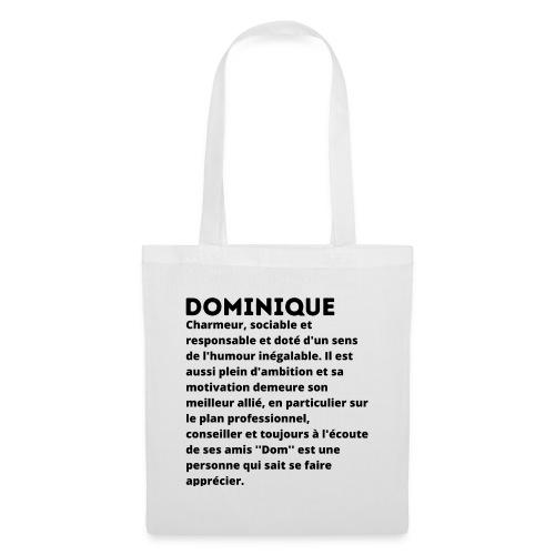 Dominique prénom personnalité - Sac en tissu