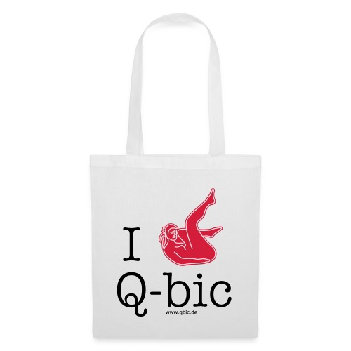 I Love Q-bic - Stoffbeutel