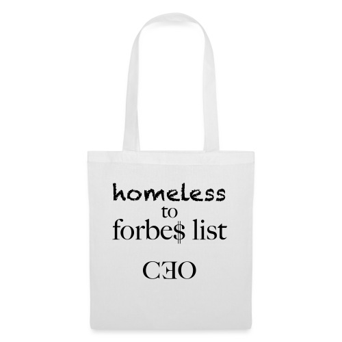 homeless to forbes list - Stoffbeutel