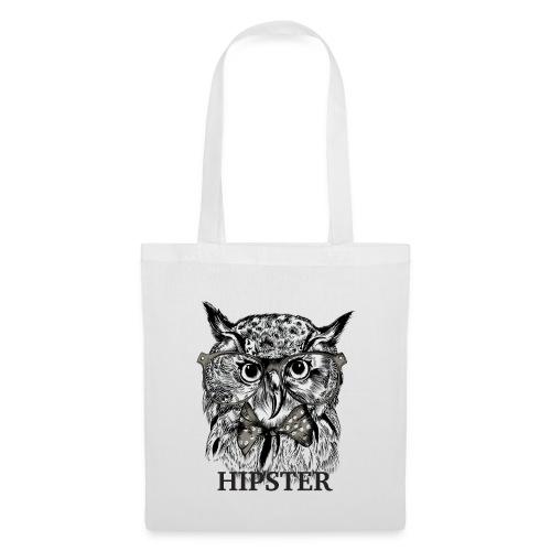 Hibou Hipster - Sac en tissu