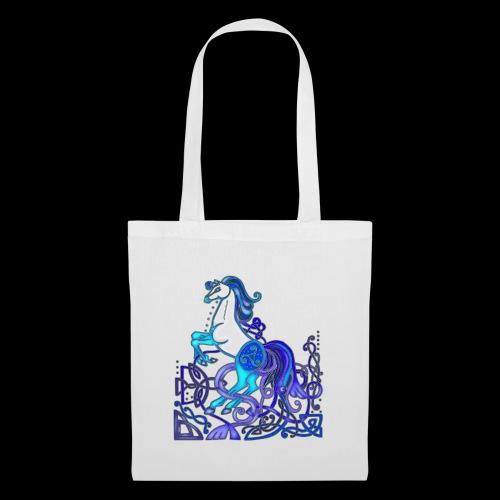 Celtic Horse Silver Blue - Tote Bag