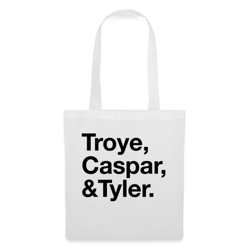 TROYE CASPAR AND TYLER - YOUTUBERS - Borsa di stoffa
