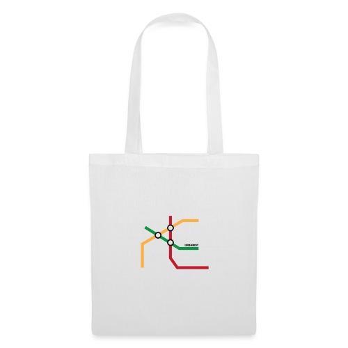 Urbanista mapa metro - design. - Torba materiałowa