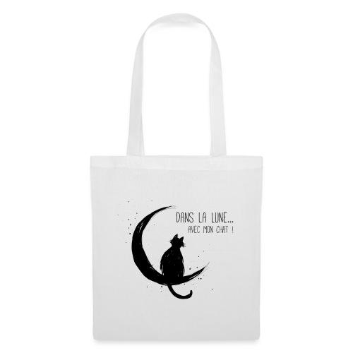 Dans la Lune... avec mon chat ! - Tote Bag