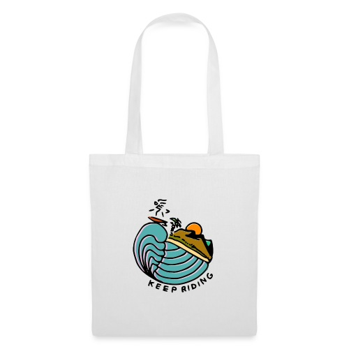Surfeur au Couchant - Tote Bag
