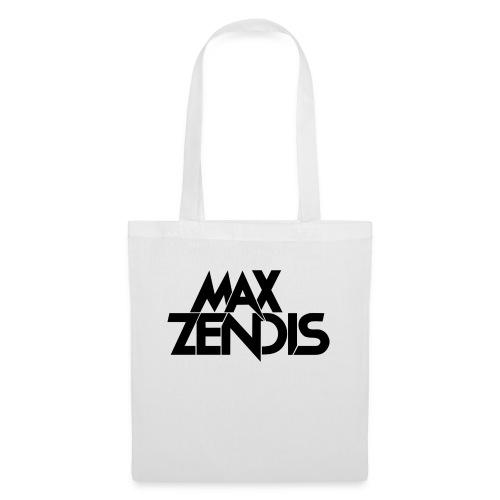 MAX ZENDIS Logo Big - White/Black - Stoffbeutel