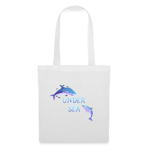 Under the Sea - Shark and Dolphin - Tote Bag