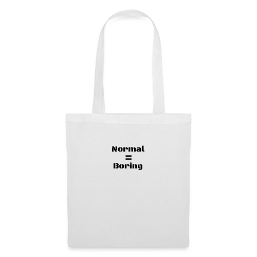 Normal is Boring premium womens t-shirt - Tote Bag