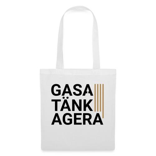 T-shirt för inspiration. Gasa-Tänk-Agera - Tygväska