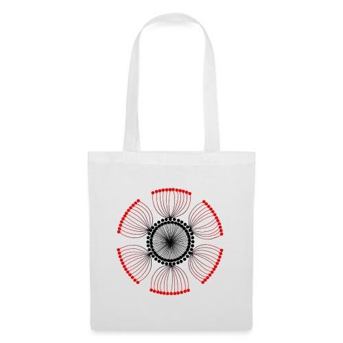 Red Poppy Seeds Mandala - Tote Bag
