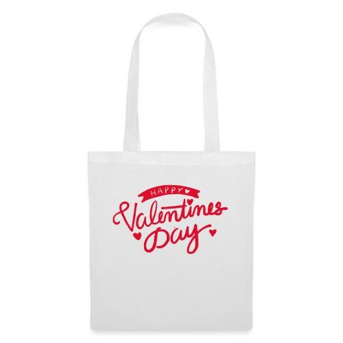 Happy Valentines Day - Sac en tissu