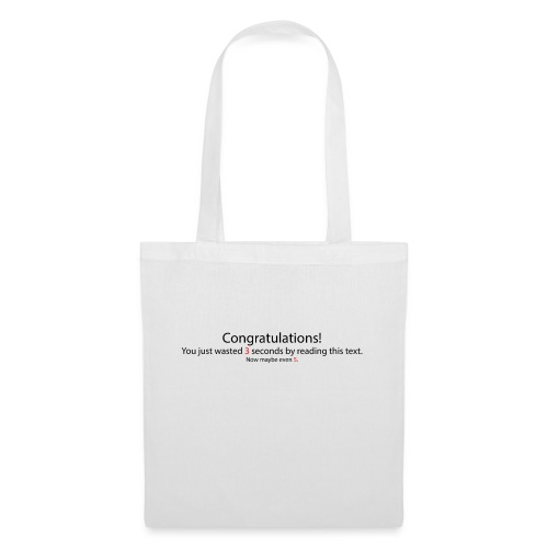 Congratulations - Stoffbeutel