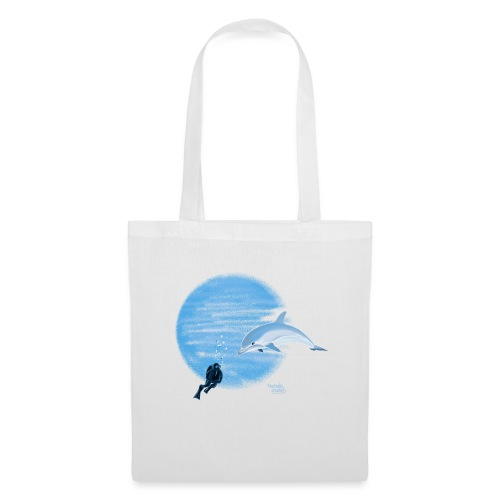 Dolphin and diver - Maillots - Sac en tissu