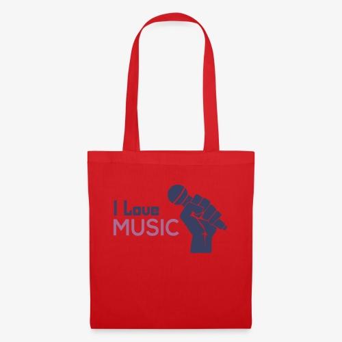 Amo la música - Bolsa de tela