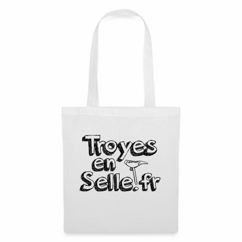 logo Troyes en Selle noir - Sac en tissu