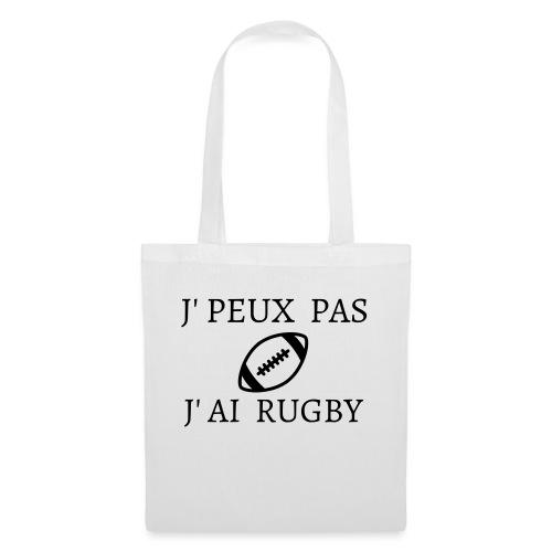 J'peux pas J'ai rugby - Tote Bag