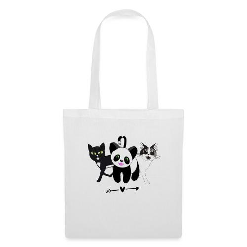 Tipsy, Tapsy and Happy Panda - Tote Bag