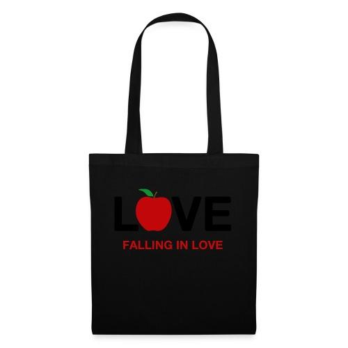 Falling in Love - Black - Tote Bag