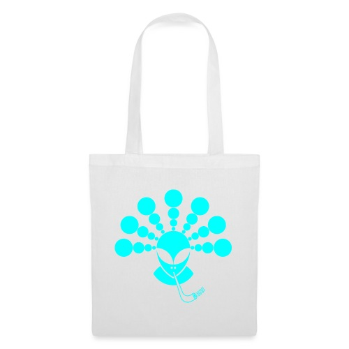 The Smoking Alien Light Blue - Tote Bag