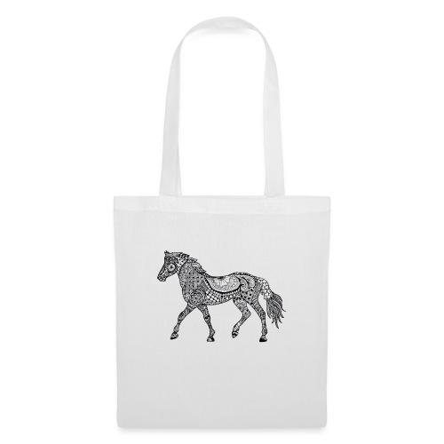 Pferd, gemustert - Stoffbeutel