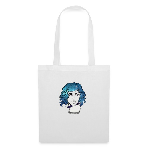 Portrait galaxie bleu - Tote Bag