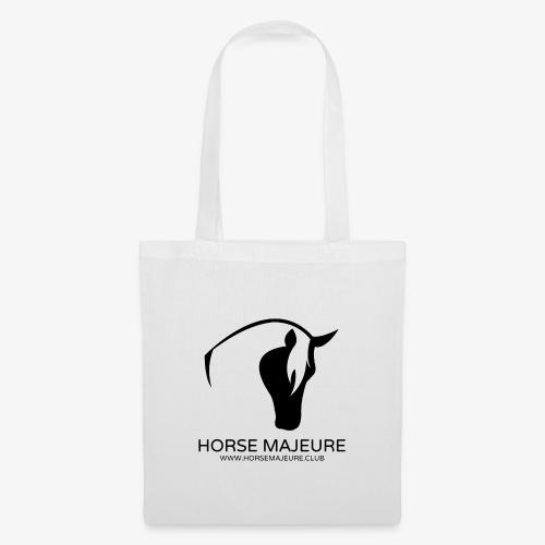 Horse Majeure Logo / Musta - Kangaskassi