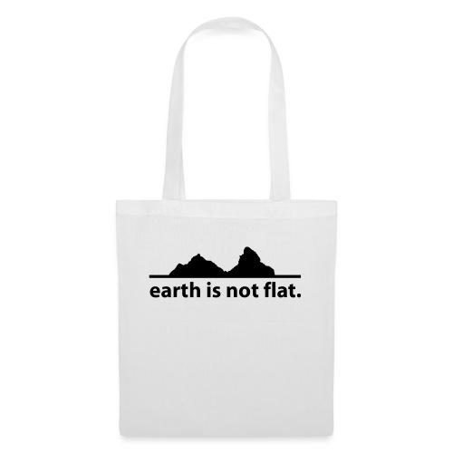 earth is not flat. - Stoffbeutel