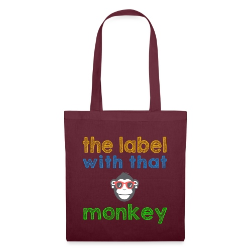 the label with that monkey - Stoffbeutel