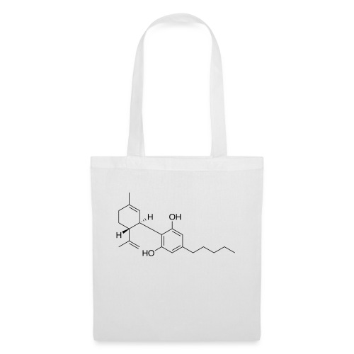 Cannabidiol Chemical Structure - Tote Bag
