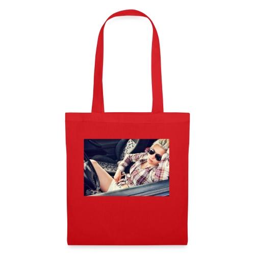 Cool woman in car - Tote Bag