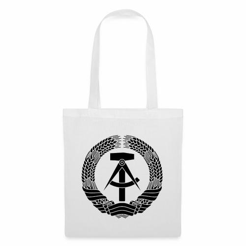 DDR Wappen (schwarz) - Tote Bag