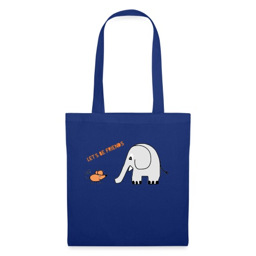 Elephant and mouse, friends - Tote Bag