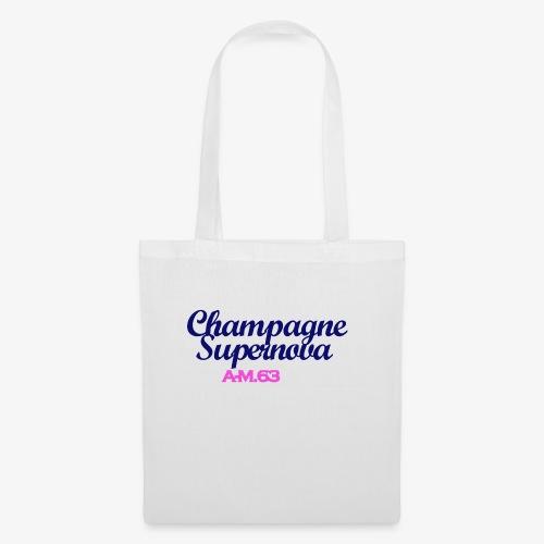 Champagne Supernova blau - Stoffbeutel