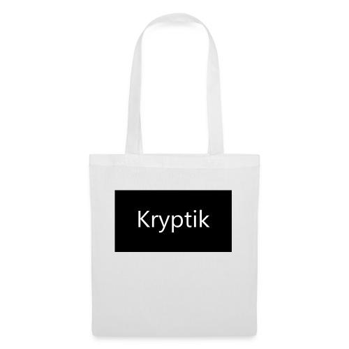 Logo Kryptik Schwarz - Stoffbeutel