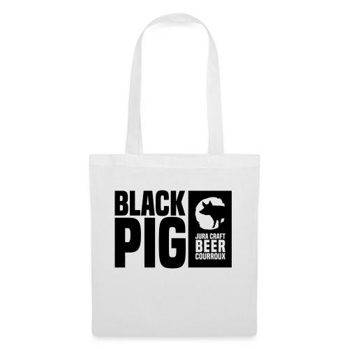 BlackPig Horizontal Noir - Sac en tissu