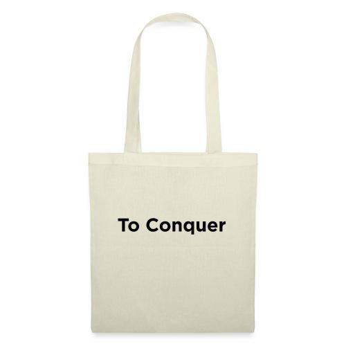 veroveren in het Engels to conquer - Tas van stof