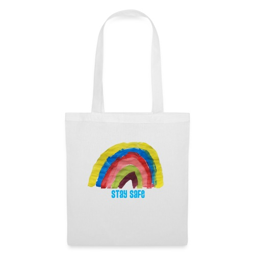 Stay Safe Rainbow Tshirt - Tote Bag