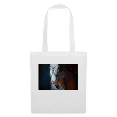 Painted horse portrait - Stoffbeutel