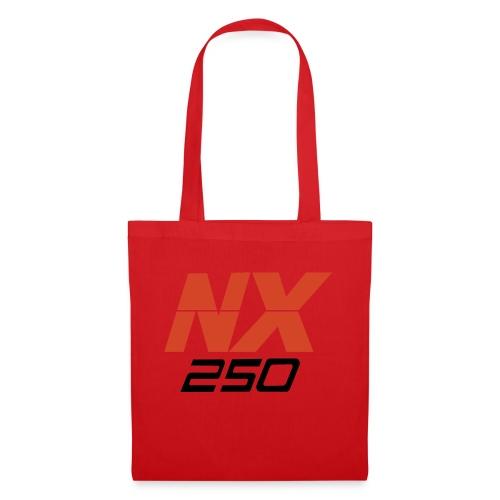 nx250 logo transparant - Tas van stof
