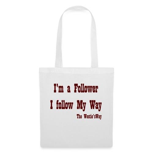 I follow My Way Brown - Torba materiałowa