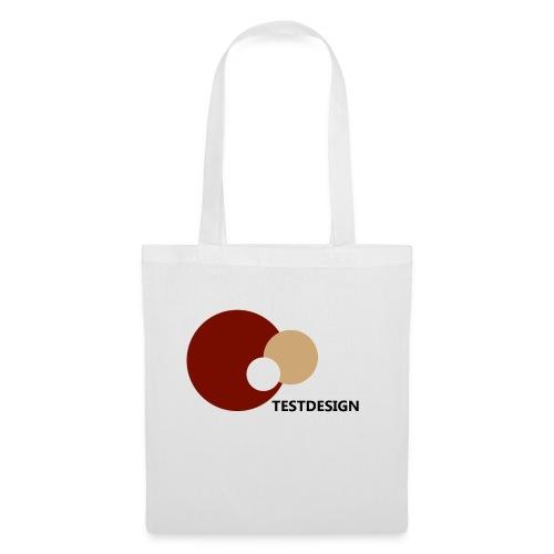 testdesign_font_black_transparent_background - Tote Bag