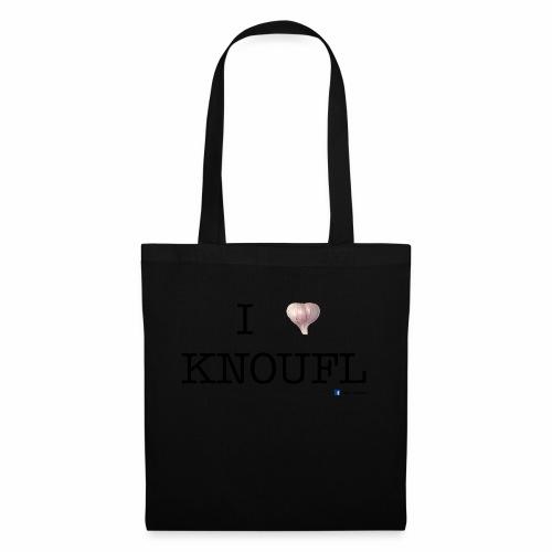 i love knoufl black - Stoffbeutel