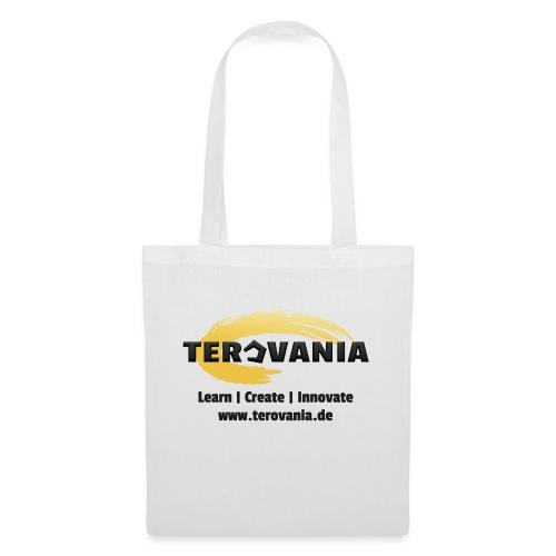 Terovania Logo mit Motto & URL - Stoffbeutel