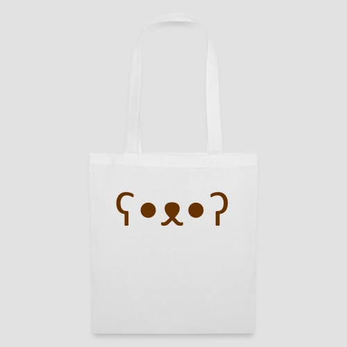 Kuma Kaomoji (Marron) - Tote Bag