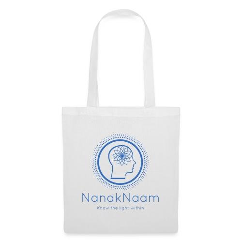 Nanak Naam Logo and Name - Blue - Tote Bag