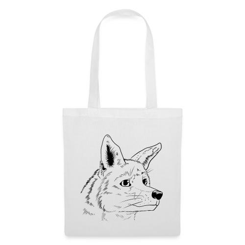 Strichzeichnung Fuchs - Stoffbeutel